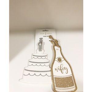 Jade & Deer Wedding Luggage Tag Set